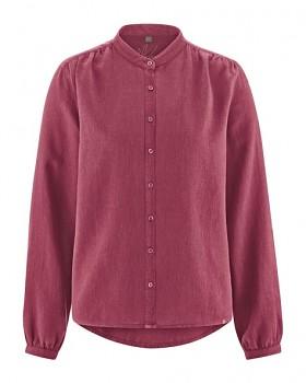 ALIVIA dámská košile z konopí a biobavlny - červená tinto