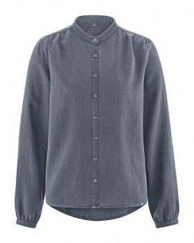 ALIVIA dámská košile z konopí a biobavlny - šedá char