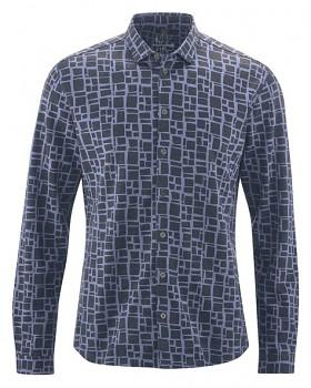 PRINT pánská košile z konopí a biobavlny - fialová lavender