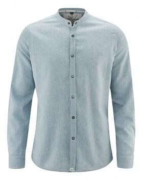 DYLAN pánská košile z konopí a biobavlny - světle modrá atlantic