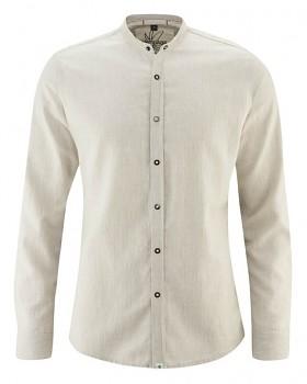 DYLAN pánská košile z konopí a biobavlny - béžová hanf