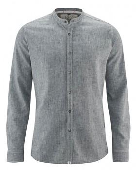 DYLAN pánská košile z konopí a biobavlny - šedá night