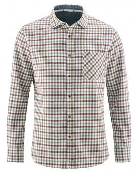LUMBERJACK pánská károvaná košile z konopí a biobavlny - červená tinto