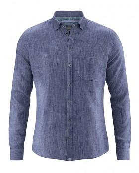 PATACHON pánská košile z konopí a biobavlny - fialová lavender