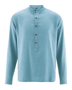 LUFT pánská košile z konopí a biobavlny - modrá wave