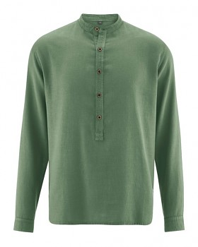LUFT pánská košile z konopí a biobavlny - zelená herb