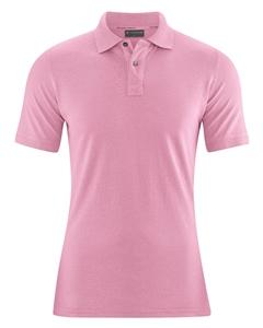 MARIO pánské polo tričko z konopí a biobavlny - růžová rose