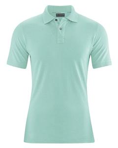 MARIO pánské polo tričko z konopí a biobavlny - světle modrá sage
