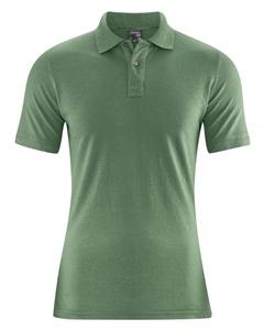 MARIO pánské polo tričko z konopí a biobavlny - zelená herb