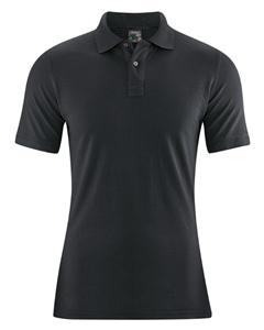MARIO pánské polo tričko z konopí a biobavlny - černá