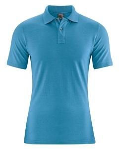 MARIO pánské polo tričko z konopí a biobavlny - modrá atlantic