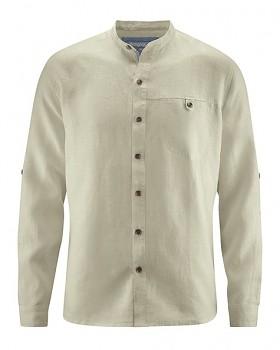 NOAH pánská košile ze 100% konopí - béžová hanf
