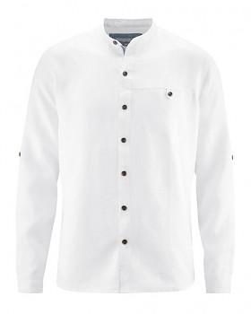 NOAH pánská košile ze 100% konopí - bílá