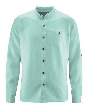 NOAH pánská košile ze 100% konopí - světle modrá sage