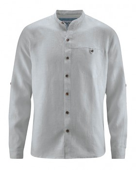 NOAH pánská košile ze 100% konopí - šedá quartz