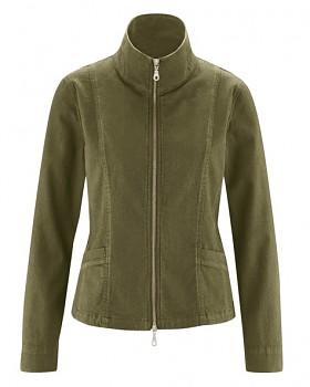 CHARLEE dámská bunda z konopí a biobavlny - khaki peat