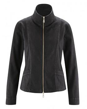 CHARLEE dámská bunda z konopí a biobavlny - černá