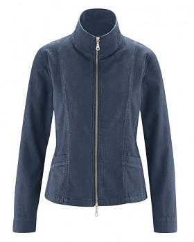 CHARLEE dámská bunda z konopí a biobavlny - tmavě modrá wintersky