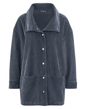 ALIZA dámská manšestrová bunda z konopí a biobavlny - tmavě šedá dark