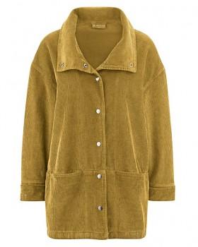 ALIZA dámská manšestrová bunda z konopí a biobavlny - žlutá peanut