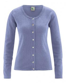 LOLA dámský pletený svetr z konopí a biobavlny - fialová lavender