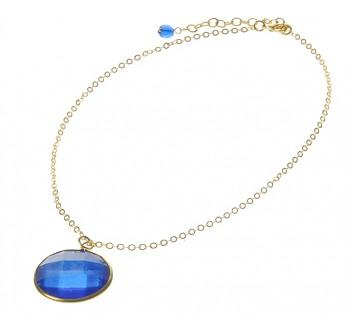 DISC modrý fazetový náhrdelník