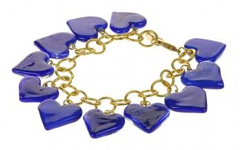 HEART náramek modrý