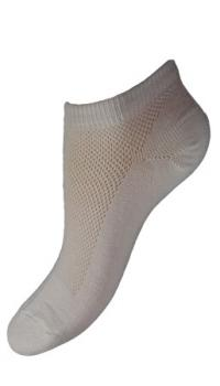 Bambusové ponožky kotníčkové bílé  (tenké)