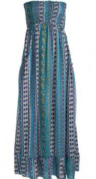 NIKIHITA letní maxi šaty bez ramínek