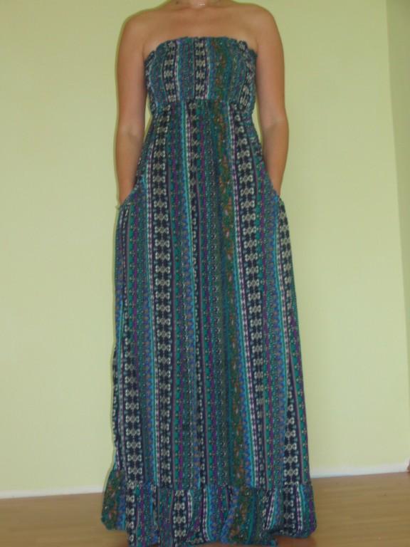 NIKIHITA letní maxi šaty bez ramínek 30denni garance vraceni zbozi ... 3d9caa575c