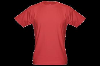 Pánské bambusové tričko červené