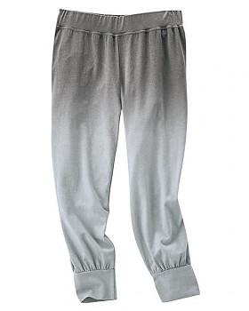 SUMMER capri kalhoty z konopí a biobavlny - šedá stone